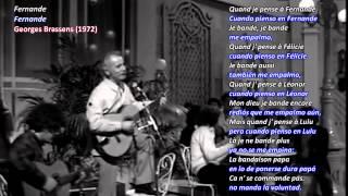 Georges Brassens traducido ► Fernande