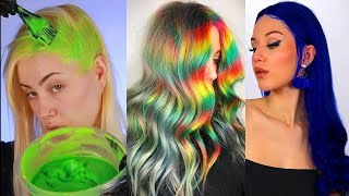 Supprising Self-Dying Colorful Hair Transformation Compilation That Youll Love!