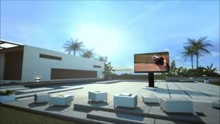 's Werelds grootste tv voor buiten ontvouwt zich uit de grond!