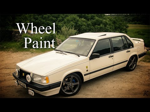 Volvo 940 Turbo: Painting the wheels