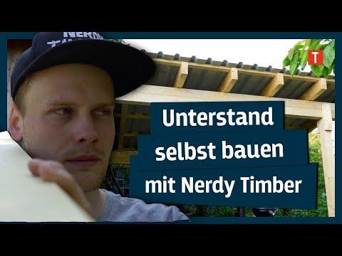Zimmerermeister zeigt, wie man Unterstand selbst baut I mit Nerdy Timber