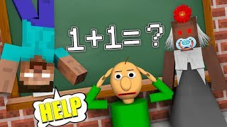 Monster School : GRANNY & BALDI