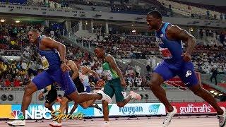 Christian Coleman's blistering 9.76 beats Gatlin for 100m world championship   NBC Sports