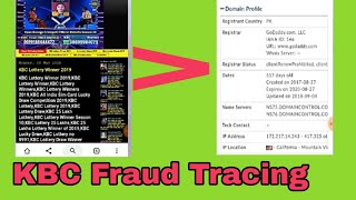 KBC Web Based Fraud: Identify Fake and real Website[How To Track Fraud]