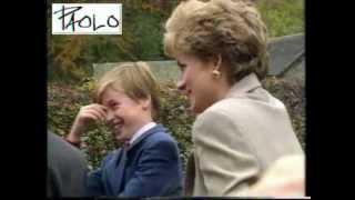 Princess Diana  William Harry 1993 rare video