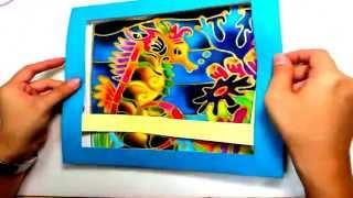 Gambar cover Batik Painting - How to Paint Seahorse with Batik Felt Frame - DIY handycraft