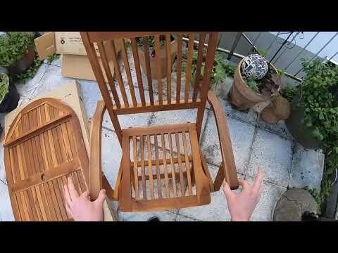 Gartenstuhl aufklappen aus Holz Sitzgruppe Tobago Sitzgarnitur Gartengarnitur Gartenmöbel Essgruppe