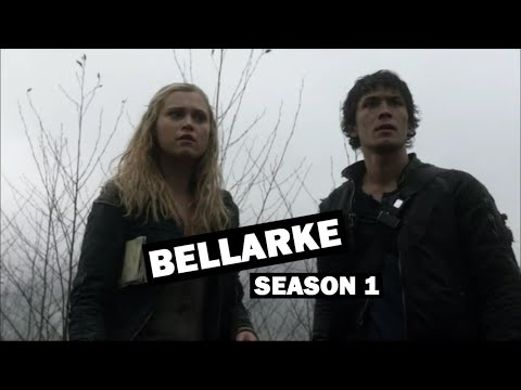 the 100 - all bellarke moments / season 1
