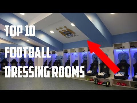Top 10 Football Dressing Rooms