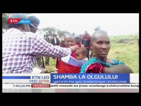 Shamrashamra za uchaguzi Umasaini Olgulului karibu na mbuga ya Amboseli