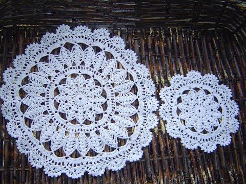 Carpetas, individual, portavasos  a crochet paso a paso  parte 1