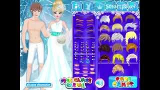 Disney Frozen's Elsa Wedding Dress Up Game