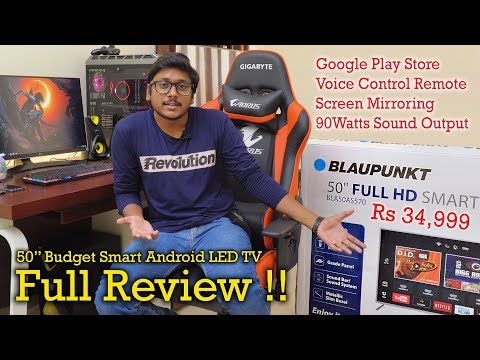 Blaupunkt 50″ Budget Smart Android LED TV In Depth Review…