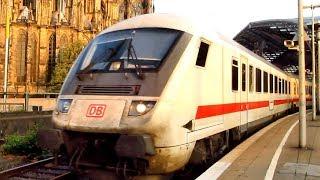 """Vlaky IC (noční + patrový) v žst. Köln Hbf. a ICE v (ne?)vylidněné """"VRT-žst."""" Montabaur (6 + 7/2018)"""