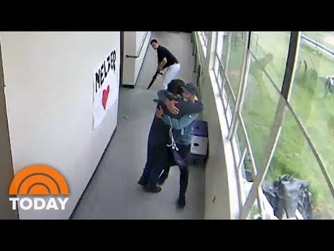Video Shows Coach Disarming And Then Hugging Student At High School | TODAY