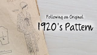 Following A 1920s Dress Pattern : Sewing Through The Decades