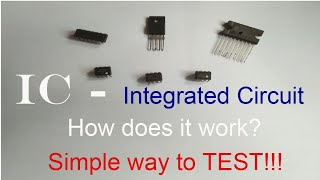IC - INTEGRATED CIRCUIT, What about IC?  How to Measure IC? Importance of IC and how it works?