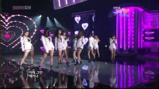 [HD]SNSD ft f(x)_Kissing you & Tell Me Your Wish Remix ver Music Bank 100110