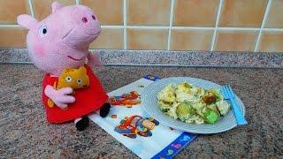 Готовим вместе со Свинкой Пеппой. Жареные кабачки с яйцом. Диета от Пеппы – Есть и худеть