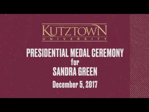 KU Presidential Medal Ceremony for  Sandra Green