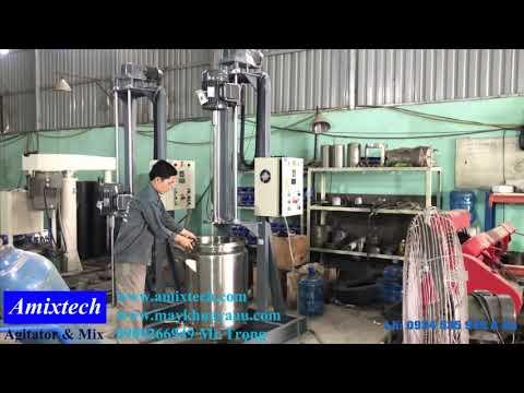 Máy khuấy hóa chất nâng hạ tự động lh 0934 535 949 Á Âu