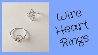 DIY Ring Tutorial: Make Two Wire Heart Rings