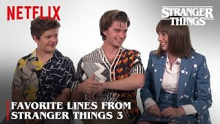 Favorite Lines with Joe, Maya, and Gaten | Stranger Things | Netflix