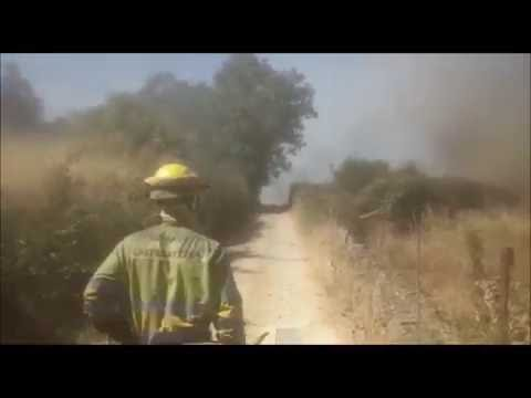 Un incendio en Escurial de la Sierra amenazó con llegar a las casas del pueblo