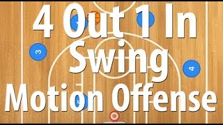 4 Out 1 In Swing Basketball Motion Offense