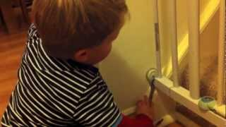 How to remove a stair gate - remove raw plugs and fill holes