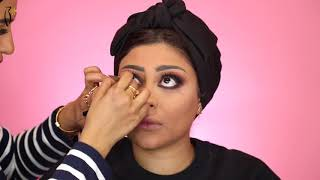 Makeup Tutorial by Sondos Al Qattan on Zeinab | ميكب توتوريال مع سندس القطان على زينب