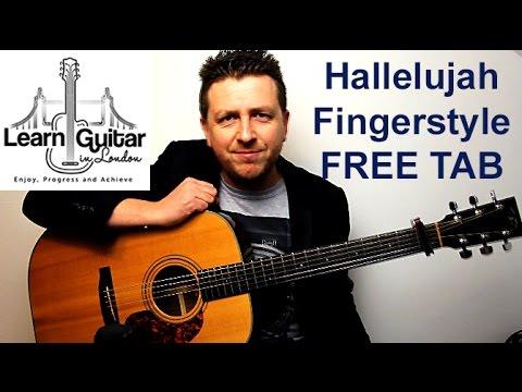 Hallelujah - Fingerstyle Guitar Tutorial - Leonard Cohen - FREE TAB