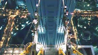 一座数百米高的通电桥,谁有胆量走过去,就能得到1000万现金!