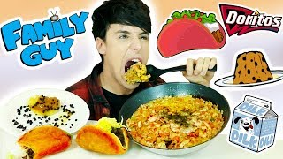 i only ate FAMILY GUY FOODS for 24 hours!!!