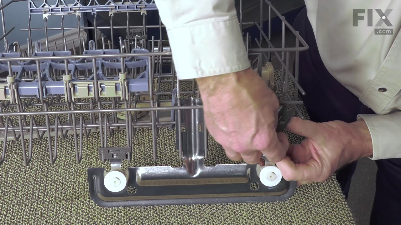 Replacing your Kenmore Dishwasher Upper Rack Adjuster Kit - White Wheels, Left and Right Sides