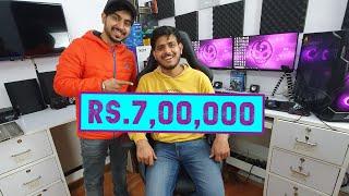Rs.7,00,000 Indian Gaming Room/Youtube Studio ft. Anmol Jaiswal (AJ Gaming)