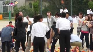 佐賀女子 体育祭 玉入れ生徒VS保護者