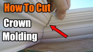 How To Cut Crown Molding The Easy Way | THE HANDYMAN |