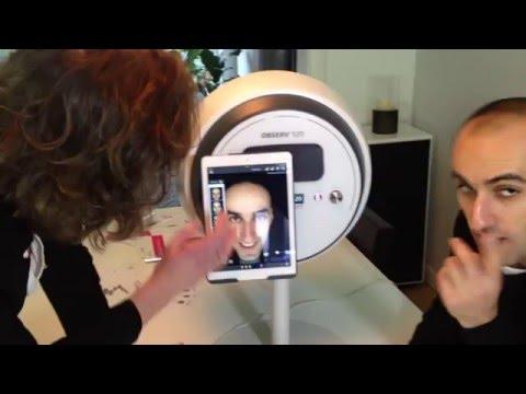 Nieuwsgierig ? Dit filmpje laat zien hoe de huidscan wordt gedaan...