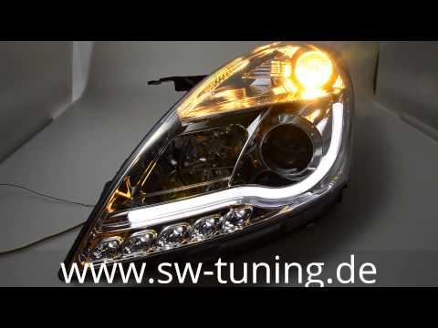 SW-Ltube Scheinwerfer Suzuki Swift FZ/NZ chrom Lighttube SW-Tuning