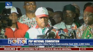 Uche Secondus Wins PDP Chairmanship Seat With 2000 Votes Pt 1 | News@10 |