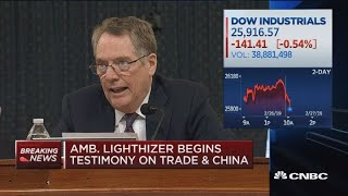 US Trade Rep Lighthizer delivers testimony on Capitol Hill