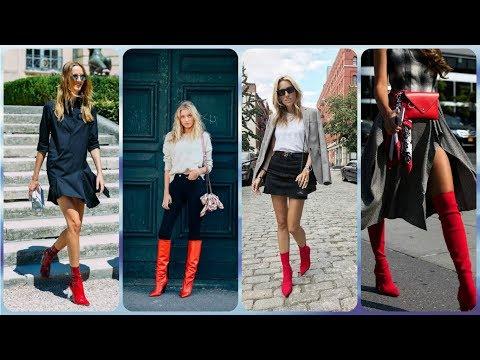 Die aktuelle 20 ideen zu rote damen stiefel frühling 2018