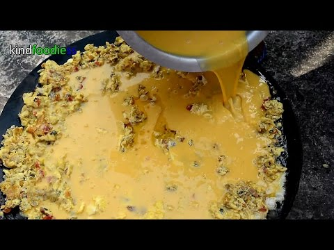 Omelette with 300 eggs with Recipe for homeless || kindfoodiess || free food ||