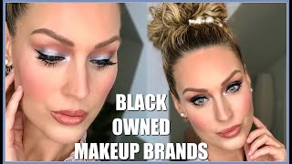 FULL FACE OF BLACK OWNED MAKEUP BRANDS | Makeup Monday