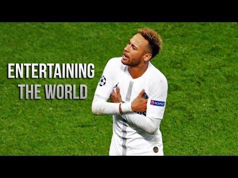 Neymar Jr Entertaining The World With His Brazillian Football Magic