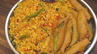 రాయలసీమ స్పెషల్ ఉగ్గాని మిరపకాయ బజ్జి //puffed rice upma//Traditional uggani recipe