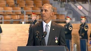 President Obama delivers final speech to U.S. Armed Forces during military farewell ceremony