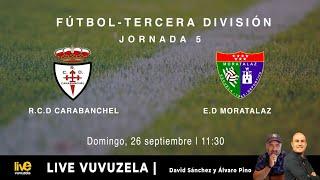 R.F.F.M. - TERCERA DIVISIÓN NACIONAL RFEF - Jornada 5 (Grupo 7) - Real C.D. Carabanchel 0-1 Escuela Deportiva Moratalaz