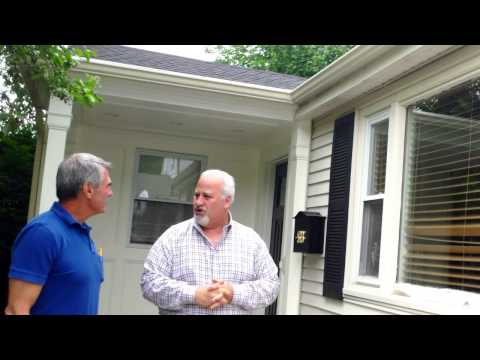 Part-1: G.F. Sprague & Co.(www.gfsprague.com), replacement window specialists in window replacement located in Needham Ma.,have recently announced the winners of the first annual Green Expo replacement window giveaway. In the video Mark congratulates Mike (the homeowner) on winning the raffle for the Great Lakes replacement windows. In the video Mike explains why he chose the specific location on his home for the installation these high performance windows;